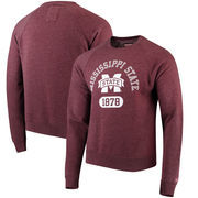 Mississippi State Bulldogs League Heritage Tri-Blend Sweatshirt - Maroon