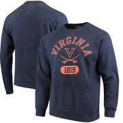 Virginia Cavaliers League Heritage Tri-Blend Sweatshirt - Navy