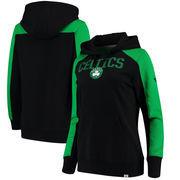Boston Celtics Fanatics Branded Women's Iconic Fleece Hoodie - Black/Kelly Green