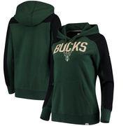 Milwaukee Bucks Fanatics Branded Women's Iconic Fleece Hoodie - Hunter Green/Black