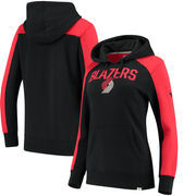 Portland Trail Blazers Fanatics Branded Women's Iconic Fleece Hoodie - Black/Red