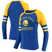 Golden State Warriors Fanatics Branded Women's Iconic Long Sleeve T-Shirt - Royal/Gold