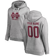 Mississippi State Bulldogs Fanatics Branded Women's Personalized One Color Pullover Hoodie - Ash