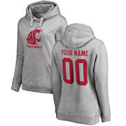 Washington State Cougars Fanatics Branded Women's Personalized One Color Pullover Hoodie - Ash