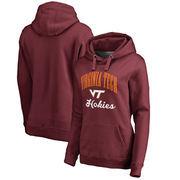 Virginia Tech Hokies Fanatics Branded Women's Plus Sizes Victory Script Pullover Hoodie - Maroon