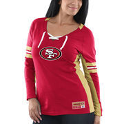 San Francisco 49ers Majestic Women's Winning Style Long Sleeve T-Shirt - Scarlet