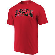 Maryland Terrapins Alta Gracia (Fair Trade) Arched Wordmark T-Shirt - Red
