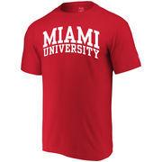 Miami University RedHawks Alta Gracia (Fair Trade) Arched Wordmark T-Shirt - Red