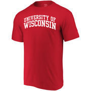 Wisconsin Badgers Alta Gracia (Fair Trade) Arched Wordmark T-Shirt - Red
