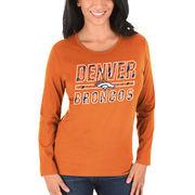 Denver Broncos Majestic Women's Quick Out Long Sleeve T-Shirt - Orange