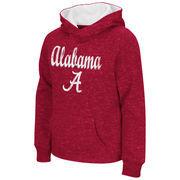 Alabama Crimson Tide Colosseum Youth Girls Judo Pullover Hoodie - Crimson