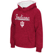 Indiana Hoosiers Colosseum Youth Girls Judo Pullover Hoodie - Crimson