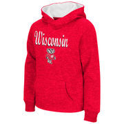 Wisconsin Badgers Colosseum Youth Girls Judo Pullover Hoodie - Red
