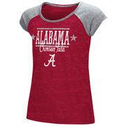 Alabama Crimson Tide Colosseum Youth Girls Sprints Raglan T-Shirt - Crimson