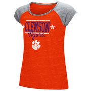Clemson Tigers Colosseum Youth Girls Sprints Raglan T-Shirt - Orange