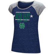 Notre Dame Fighting Irish Youth Girls Sprints Raglan T-Shirt - Navy