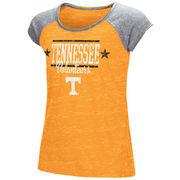 Tennessee Volunteers Colosseum Youth Girls Sprints Raglan T-Shirt - Tennessee Orange
