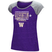Washington Huskies Youth Girls Sprints Raglan T-Shirt - Purple