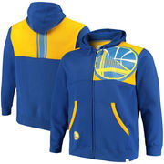 Golden State Warriors Fanatics Branded Big & Tall Iconic Full-Zip Hoodie – Royal/Gold