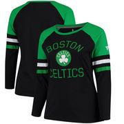 Boston Celtics Fanatics Branded Women's Plus Sizes Iconic Long Sleeve T-Shirt – Black