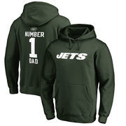 New York Jets NFL Pro Line by Fanatics Branded Big & Tall Number 1 Dad Pullover Hoodie - Green