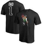 Boston Celtics Fanatics Branded Big & Tall #1 Dad T-Shirt - Black