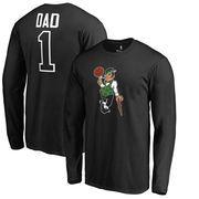 Boston Celtics Fanatics Branded Big & Tall #1 Dad Long Sleeve T-Shirt - Black