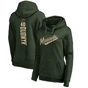 Devan Dubnyk Minnesota Wild Fanatics Branded Women's Backer Pullover Hoodie - Green