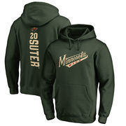 Ryan Suter Minnesota Wild Fanatics Branded Backer Pullover Hoodie - Green
