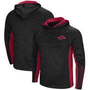 Arkansas Razorbacks Colosseum Upstart Long Sleeve Hooded T-Shirt - Heathered Black