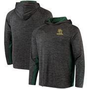 Baylor Bears Colosseum Upstart Long Sleeve Hooded T-Shirt - Heathered Black