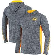 Cal Bears Colosseum Upstart Long Sleeve Hooded T-Shirt - Heathered Navy