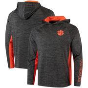 Clemson Tigers Colosseum Upstart Long Sleeve Hooded T-Shirt - Heathered Black