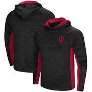 Indiana Hoosiers Colosseum Upstart Long Sleeve Hooded T-Shirt - Heathered Black