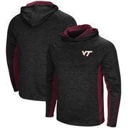 Virginia Tech Hokies Colosseum Upstart Long Sleeve Hooded T-Shirt - Heathered Black