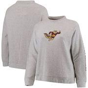 Minnesota Golden Gophers Pressbox Women's Plus Size Blume Comfy Terry Sweatshirt – Ash