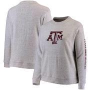Texas A&M Aggies Pressbox Women's Plus Size Blume Comfy Terry Sweatshirt – Ash