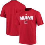 Miami University RedHawks adidas 2017 Sideline climalite T-Shirt - Red