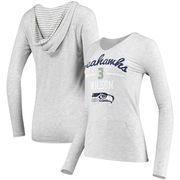 Russell Wilson Women's Seattle Seahawks Pocket Name & Number Hooded T-Shirt - Gray