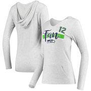 12 Fan Women's Seattle Seahawks Pocket Name & Number Hooded T-Shirt - Gray