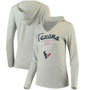 J.J. Watt Women's Houston Texans Pocket Name & Number Hooded T-Shirt - Gray