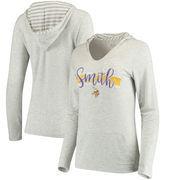 Harrison Smith Women's Minnesota Vikings Pocket Name & Number Hooded T-Shirt - Gray