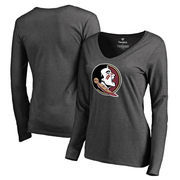 Florida State Seminoles Fanatics Branded Women's Primary Team Logo Long Sleeve T-Shirt - Heather Gray