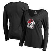 Georgia Bulldogs Fanatics Branded Women's Primary Team Logo Long Sleeve T-Shirt - Black
