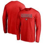 Georgia Bulldogs Fanatics Branded True Sport Baseball Long Sleeve T-Shirt - Red
