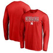 Nebraska Cornhuskers Fanatics Branded True Sport Baseball Long Sleeve T-Shirt - Red