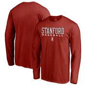 Stanford Cardinal Fanatics Branded True Sport Baseball Long Sleeve T-Shirt - Cardinal