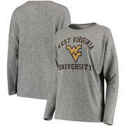West Virginia Mountaineers Women's Brushed Super Soft Spirit Jersey Tri-Blend Sweatshirt - Heathered Gray