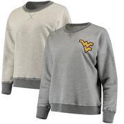 West Virginia Mountaineers Spirit Jersey Women's Reversible Sweatshirt - Heathered Gray