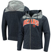Chicago Bears Antigua Exertion Full-Zip Hoodie - Navy/Silver